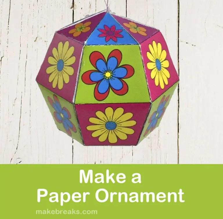 Make a DIY Paper Ornament