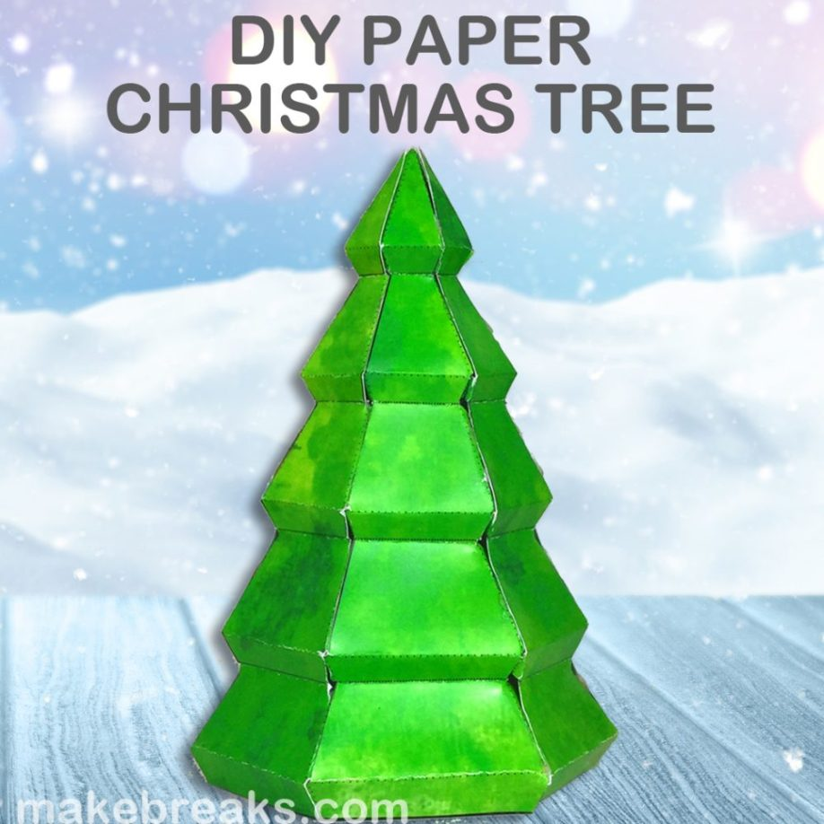 Make a paper tree ornament with our free template
