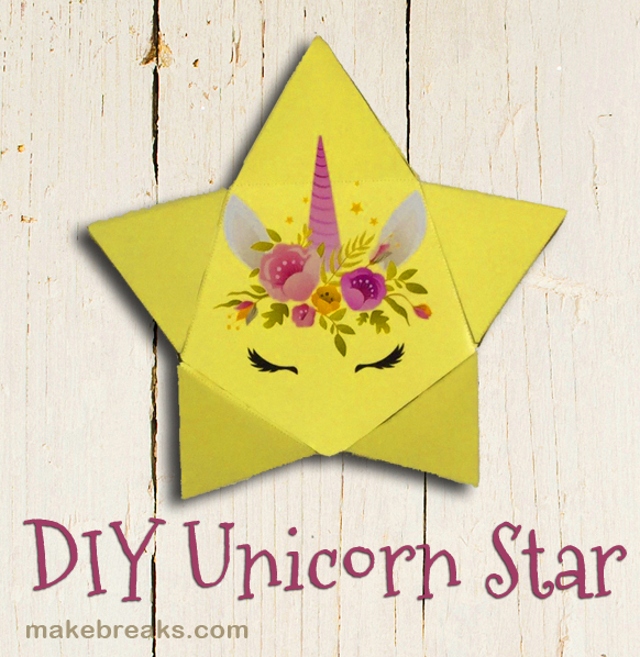 DIY Unicorn Star With Free Template Tutorial