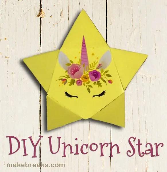 Unicorn paper star tutorial