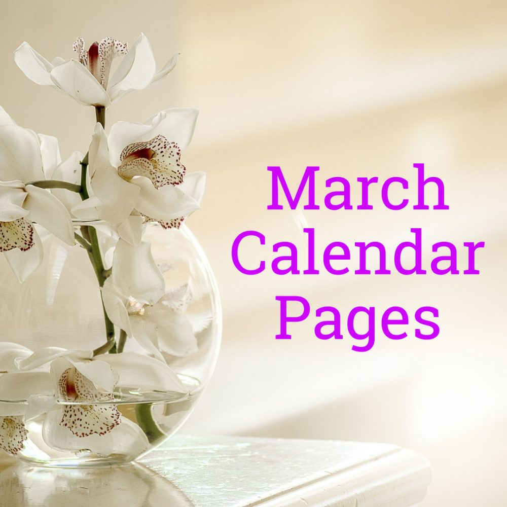 March 2019 Calendar Pages