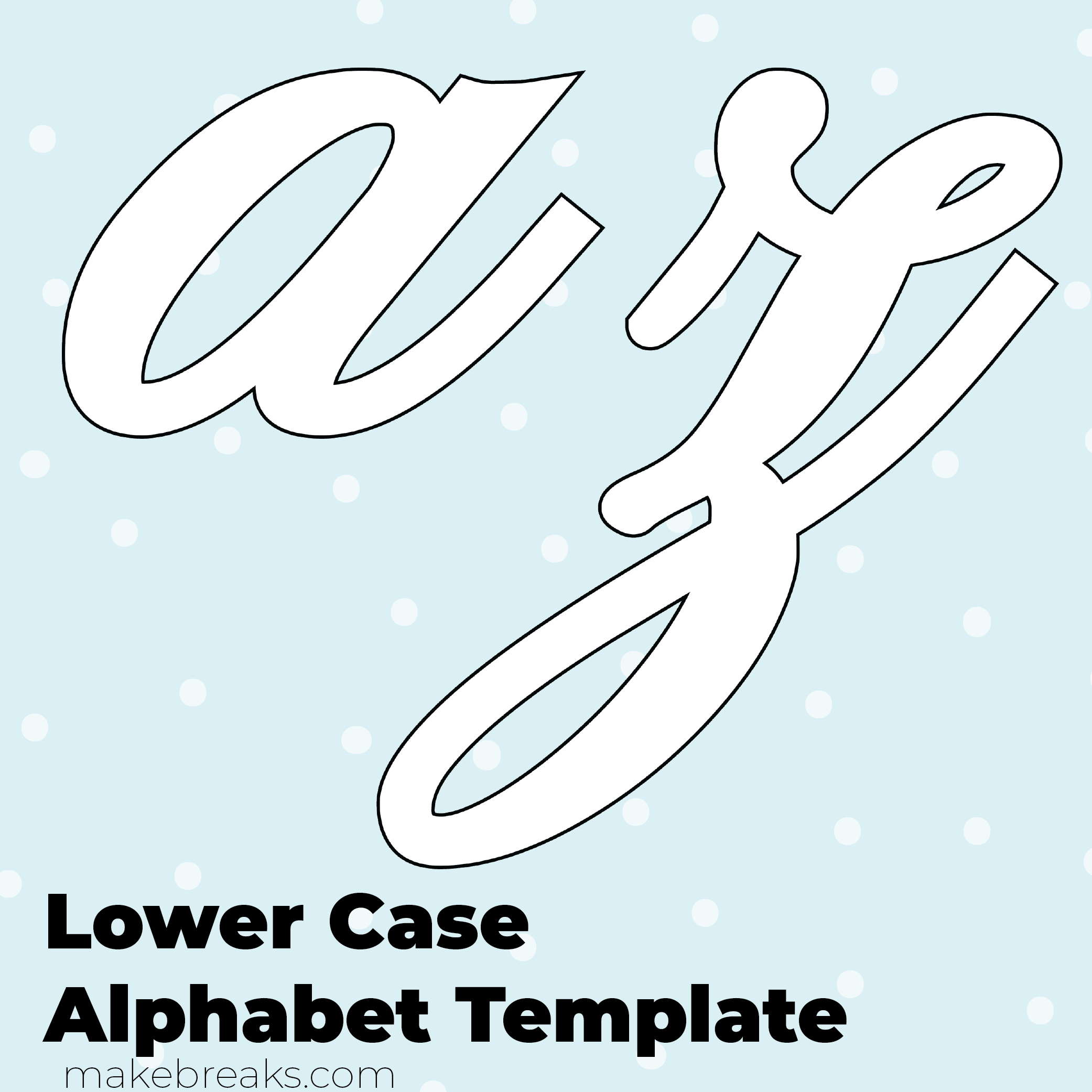 photo relating to Printable Letter Templates titled Absolutely free Printable Script Letter Alphabet Template - Very low Situation