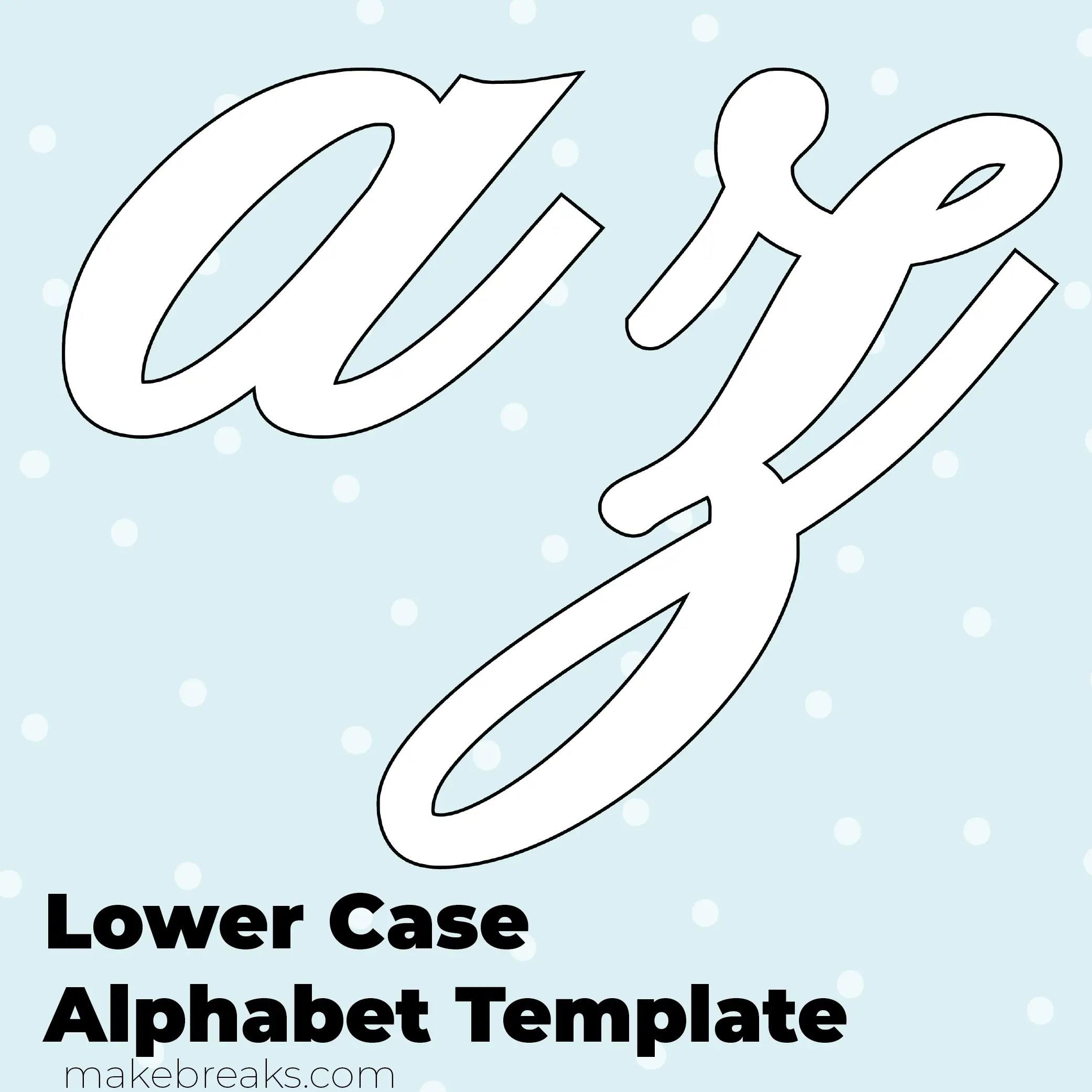 graphic about Free Printable Alphabet Templates named No cost Printable Script Letter Alphabet Template - Decrease Scenario