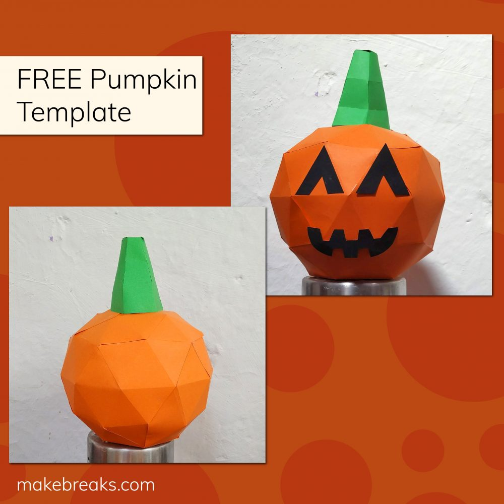 DIY Paper Pumpkin Model Free Template