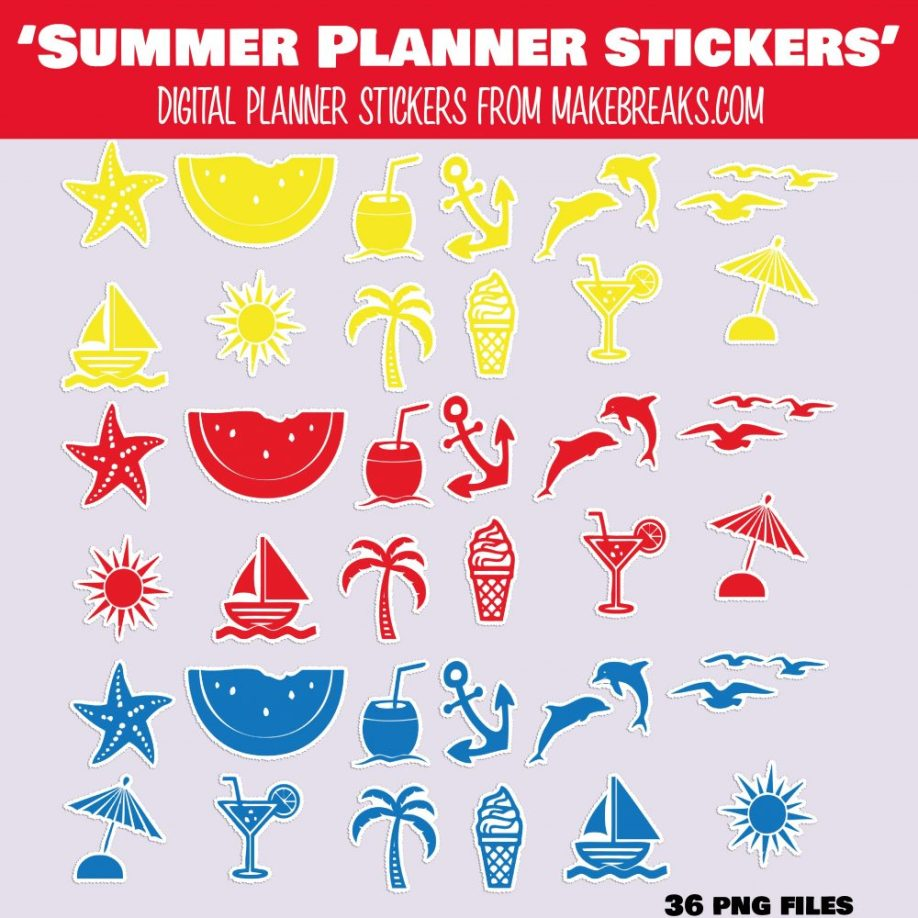 summer stickers PV-01