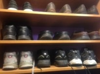 neat shoes in closet