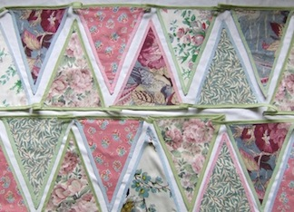 English Garden beautiful bunting