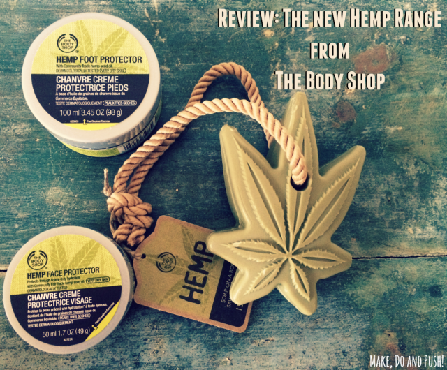 the hemp range from the body shop
