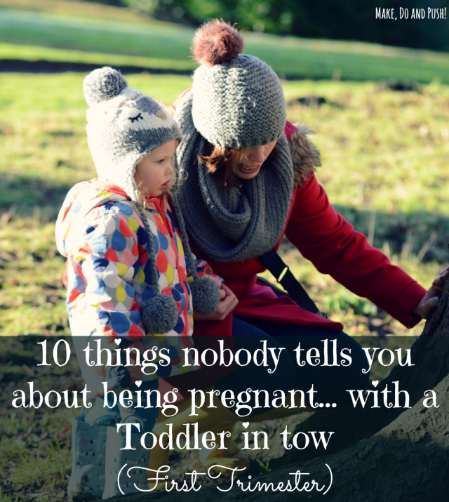 pregnant with toddler in tow