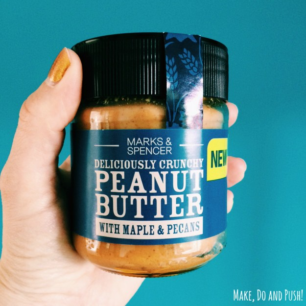 marks & spencers peanut butter with maple and pecans