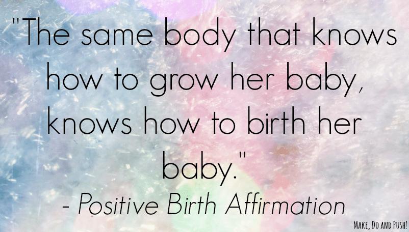 positive birth quote