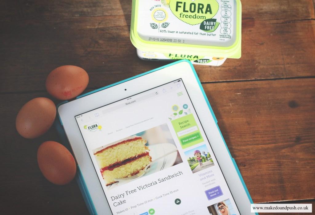 flora freedom dairy free victoria sandwich cake