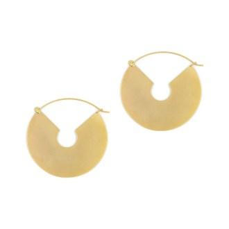 aros maxi en dorado con diseño conceptual