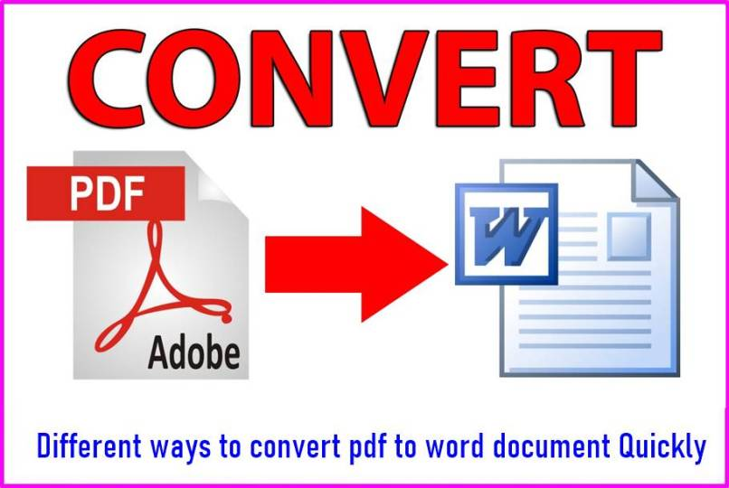 Different ways to convert pdf to word document Quickly