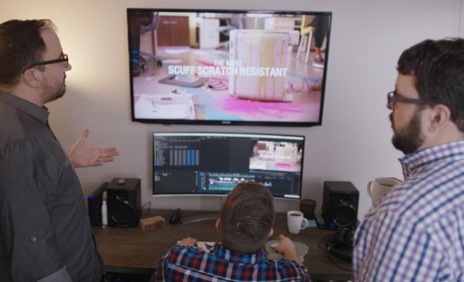 MAKE films team at work editing
