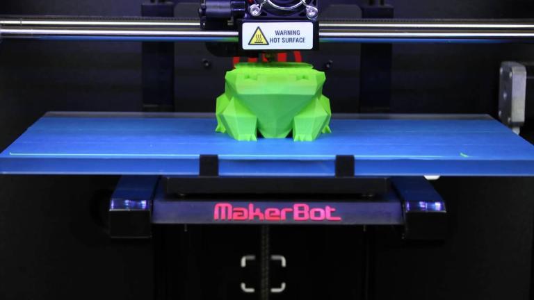 3D принтиране на модел с Makerbot.