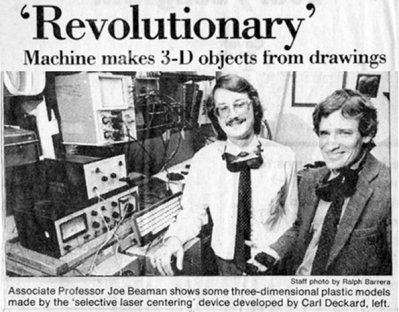 Машина прави 3D обекти от рисунки. - Заглавие от вестник.