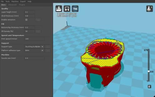 Срязване на 3D модел с Cura за 3D принтиране (slicing).