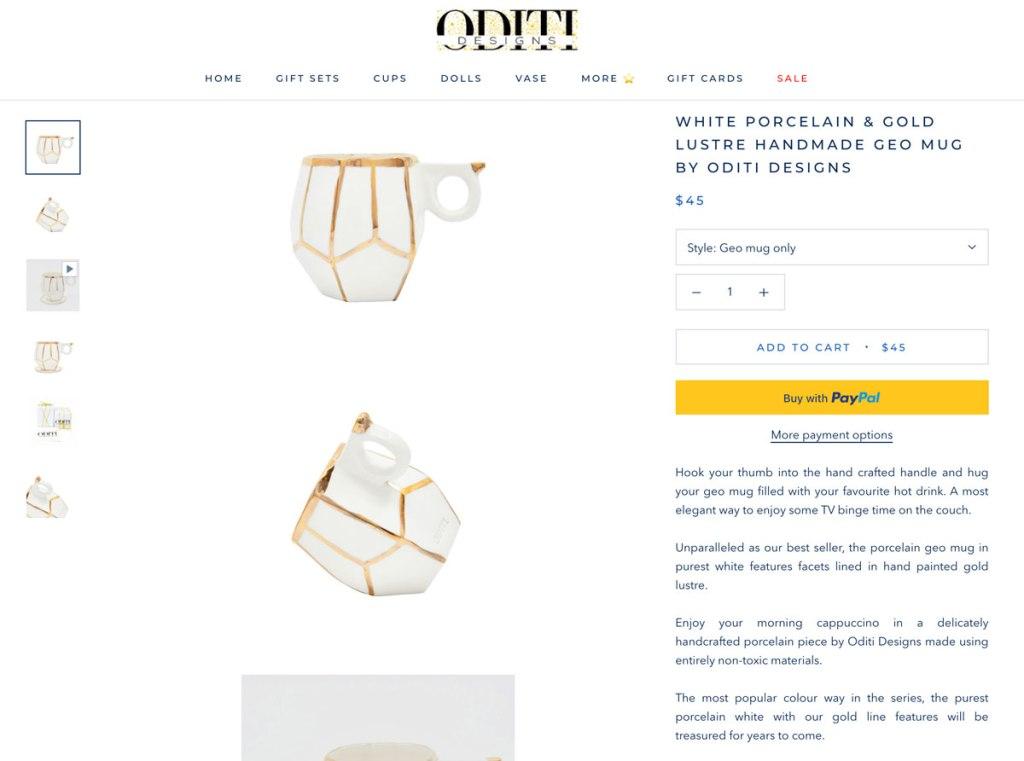 Oditi Designs Product Listing