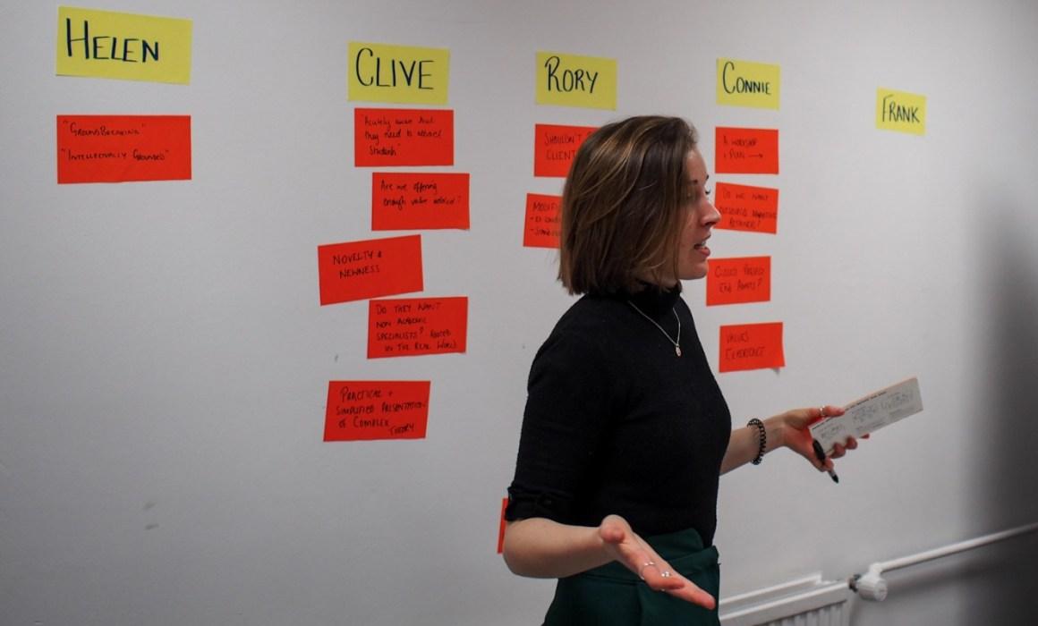 Woman facilitating vision and mission workshop