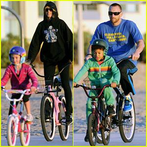 heidi-klum-bike-ride-martin-kristen-kids