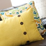 Fold Over Button Pillow Home Decor Make It And Love It
