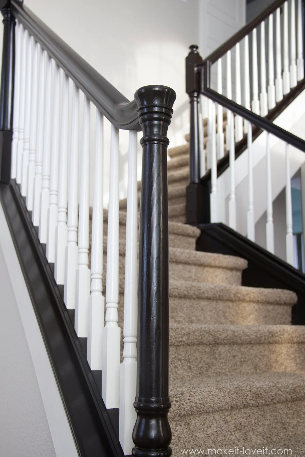 How To Paint Stain Wood Stair Railings Oak Banisters Spindles   Cost Of New Banister And Spindles   Chris Loves Julia   Stair Parts   Stair Treads   Paint   Iron Stair