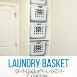 Diy Laundry Basket Organizer Built In Make It And Love It