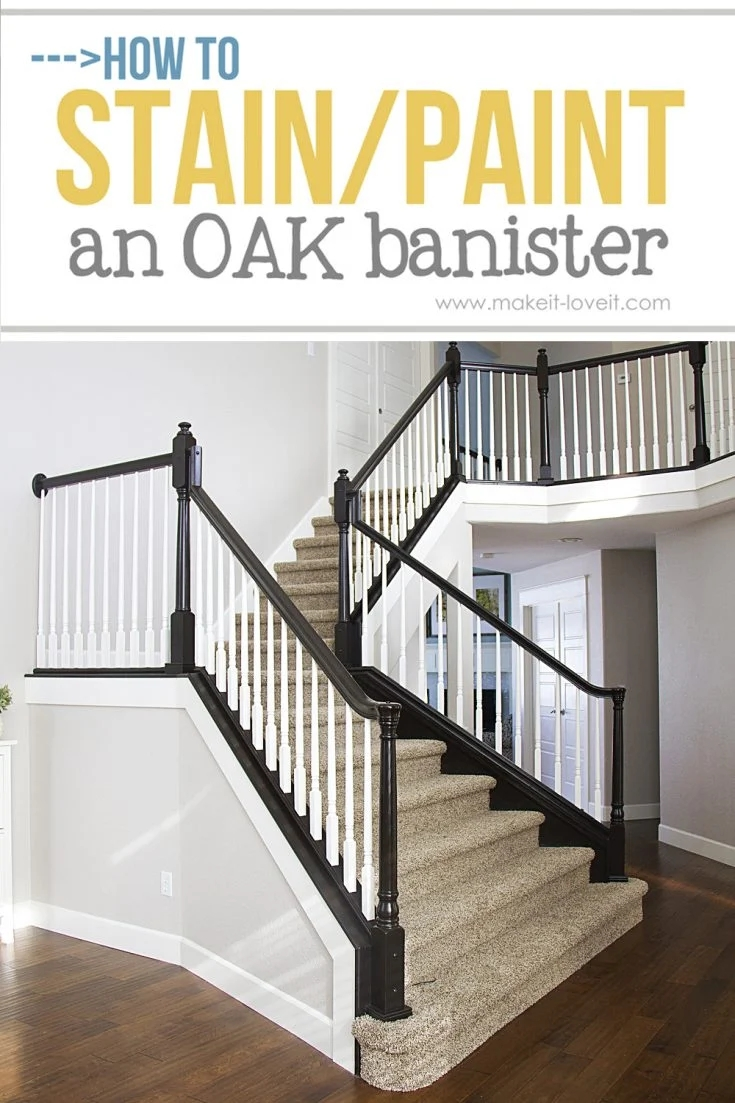 How To Paint Stain Wood Stair Railings Oak Banisters Spindles | Installing Newel Post And Spindles | Stair Treads | Stair Railings | Stair Banister | Box Newel | Staircase