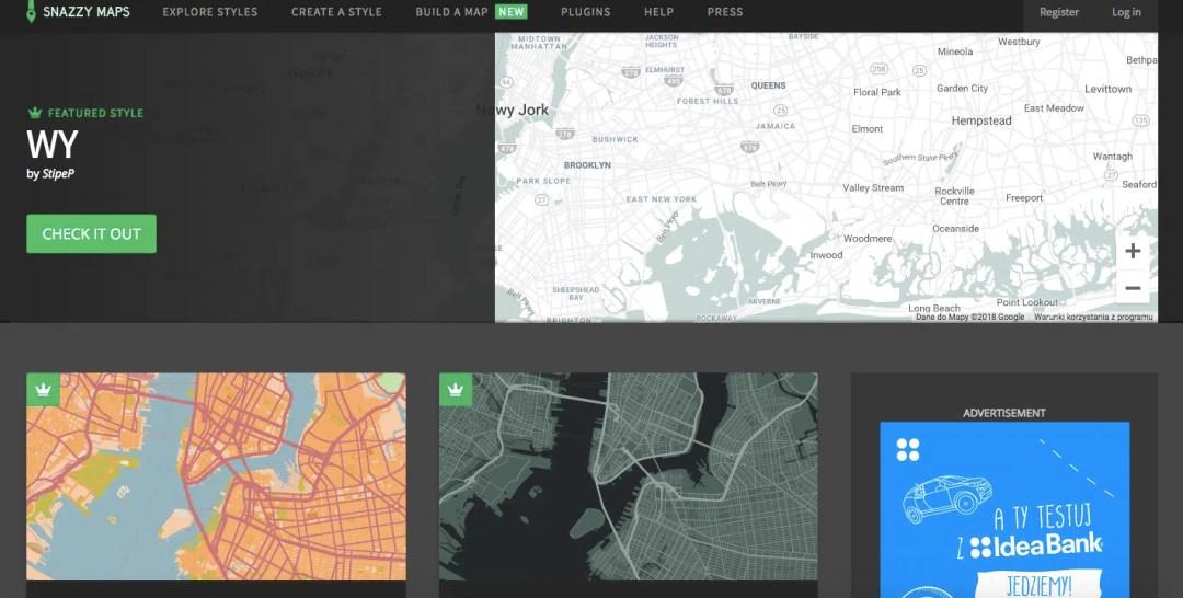 plakat mapa miasta snazzy maps