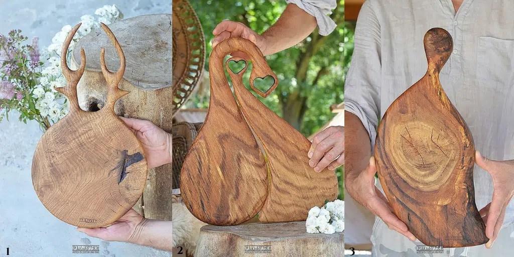 ręcznie robiona deska z drewna plajster