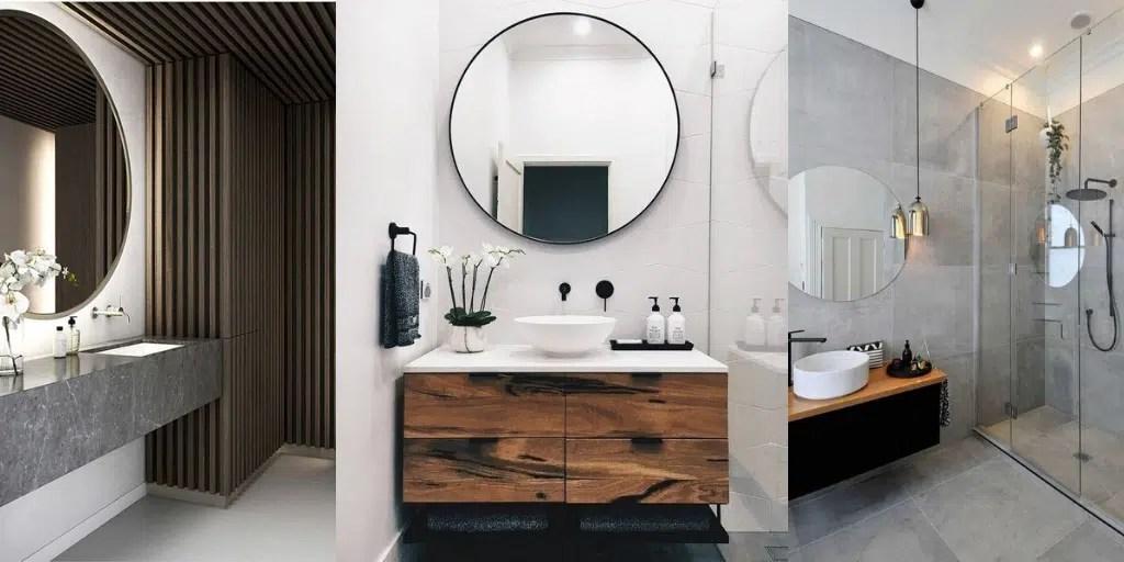 duże okrągłe lustro łazienkowe