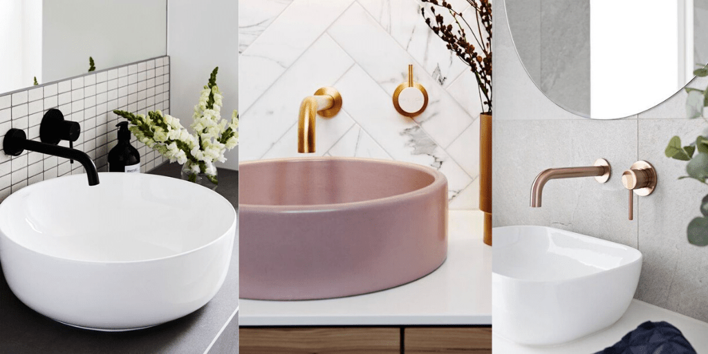 kolorowa umywalka łazienkowa nablatowa