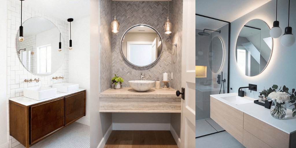 lustro podświetlane od dołu w łazience