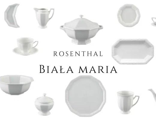 biała maria rosenthal serwis kawowy obiadowy elementy historia
