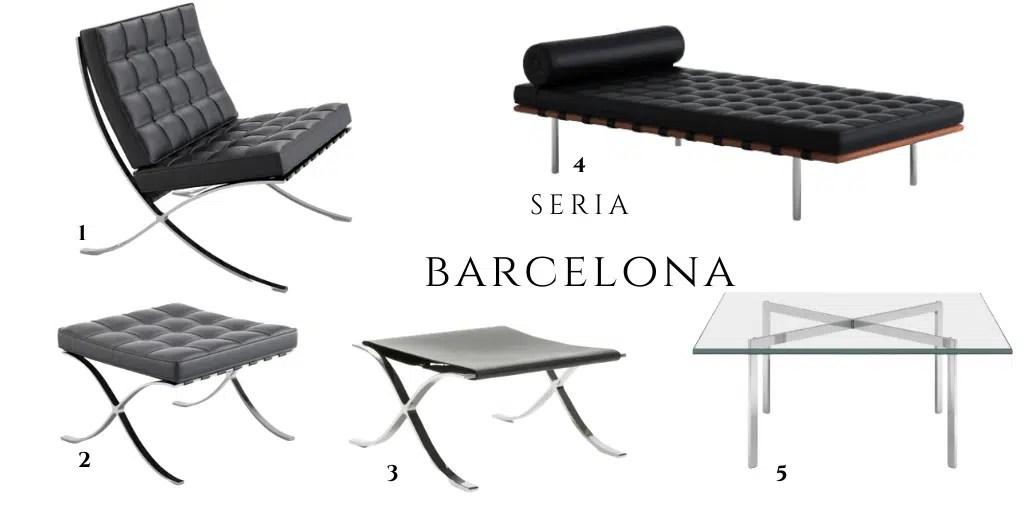 meble barcelona podnóżek leżanka stolik fotel