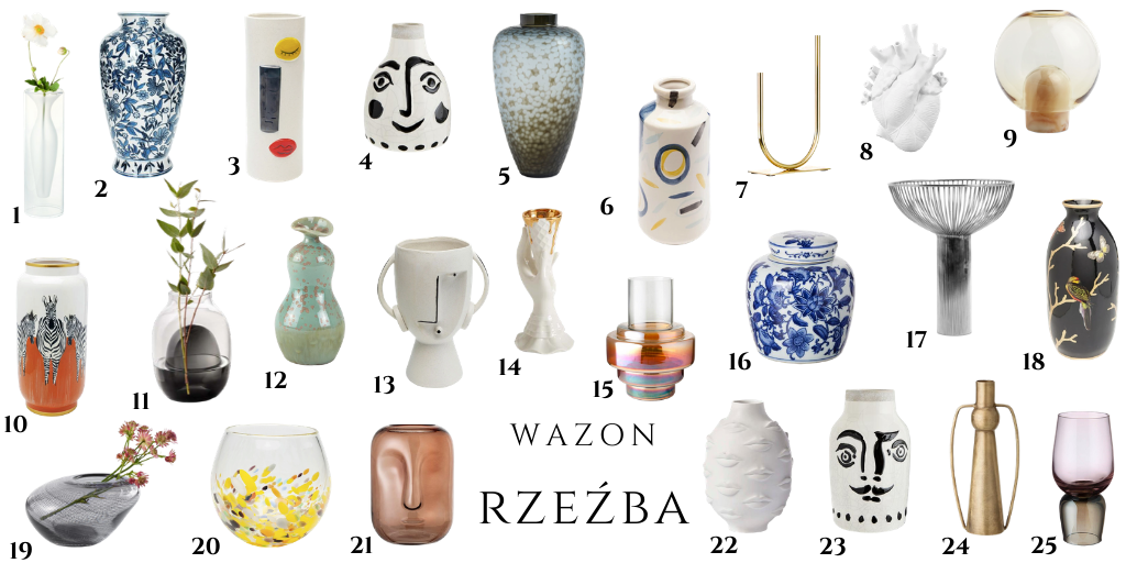 artystyczny wazon oryginalny fantazyjny kształt wazony rzeźby dwustronny wazon