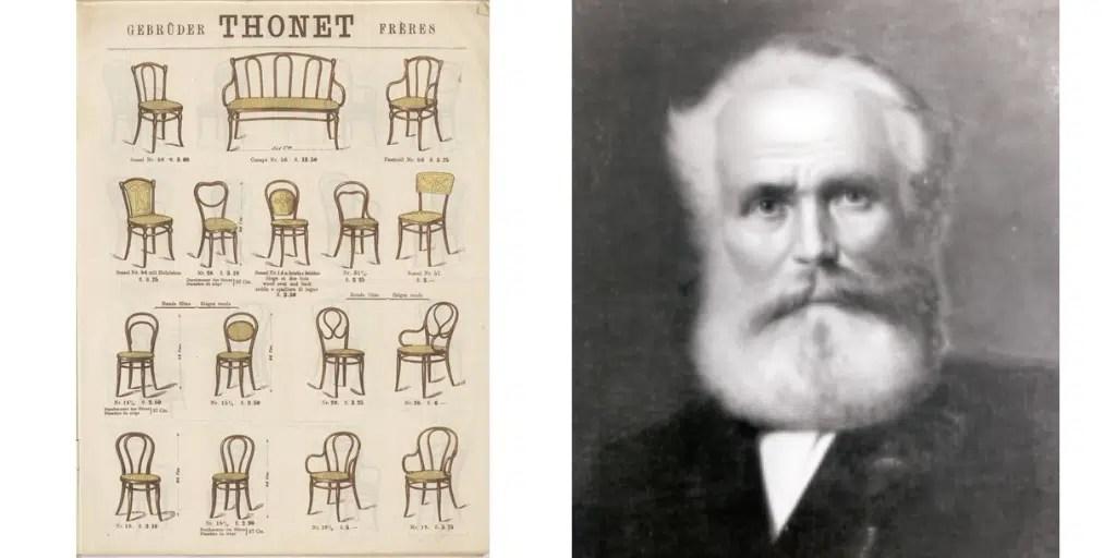 Michael Thonet thonetowskie krzesła projekty