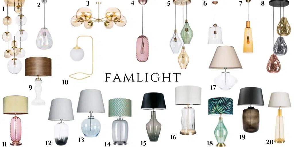 famlight polska marka lamp oświetlenie szklane dmuchane eleganckie kolorowe polskie marki dodatków do wnętrz