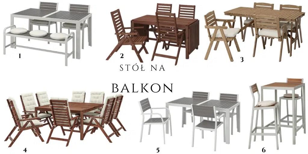 drewniane meble zewnętrzne ikea zestaw stół + krzesła