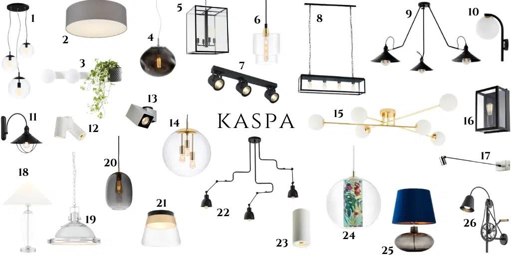 kaspa polskie lampy oświetlenie industralne szklane klosze dodatki do wnętrz polskich marek