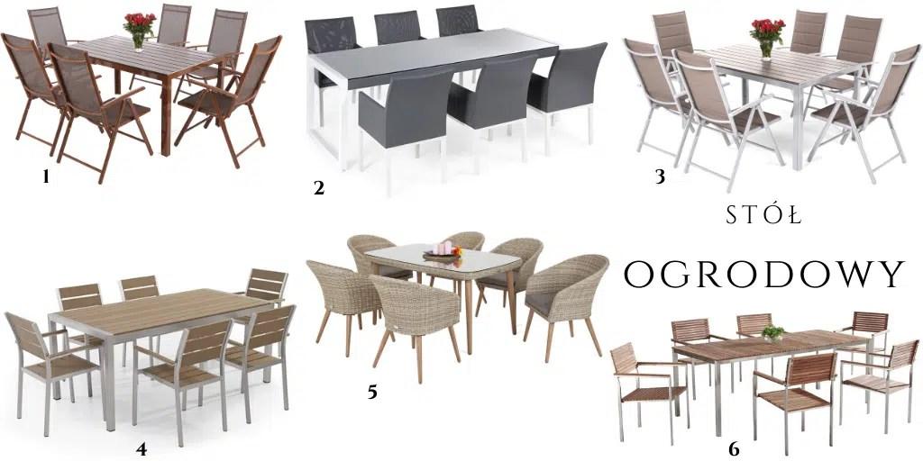 zestaw balkonowy dla 6 osób stół sześcioosobowy zewnętrzny