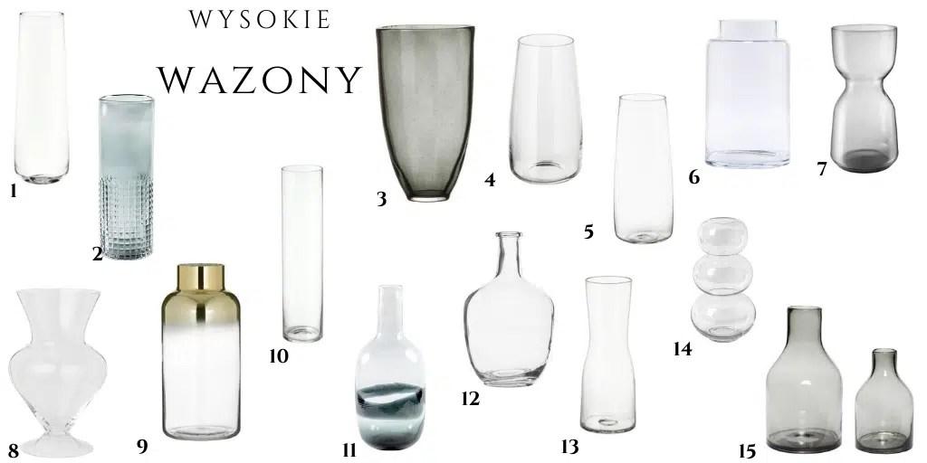 przezroczyste wazony szklane w dobrej cenie wazon na kwiaty trawa pampasowa