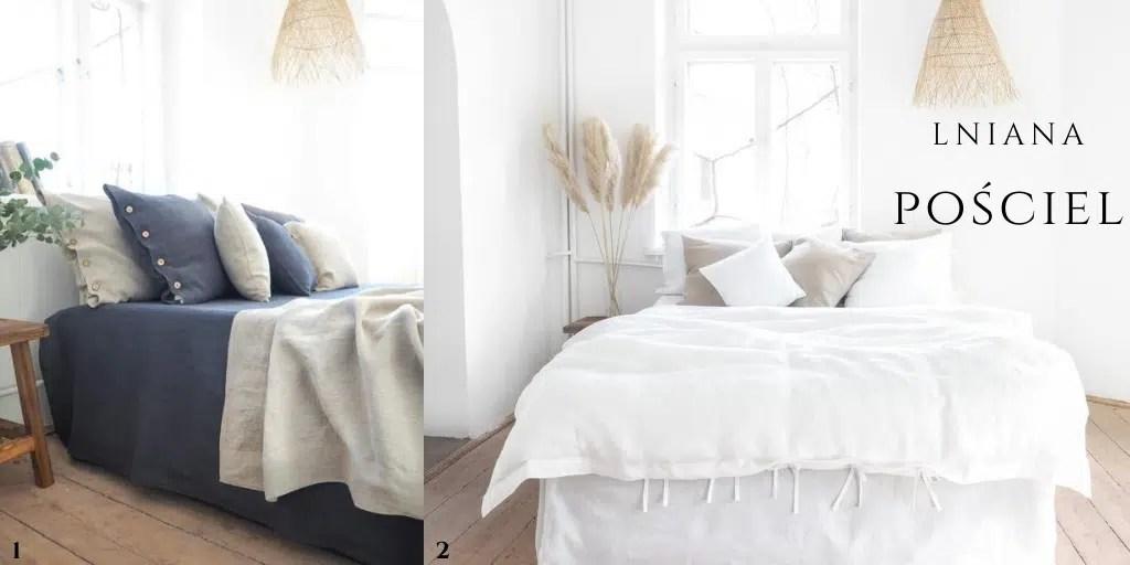 narzuta z lnu dodatki do sypialni lniane so linen