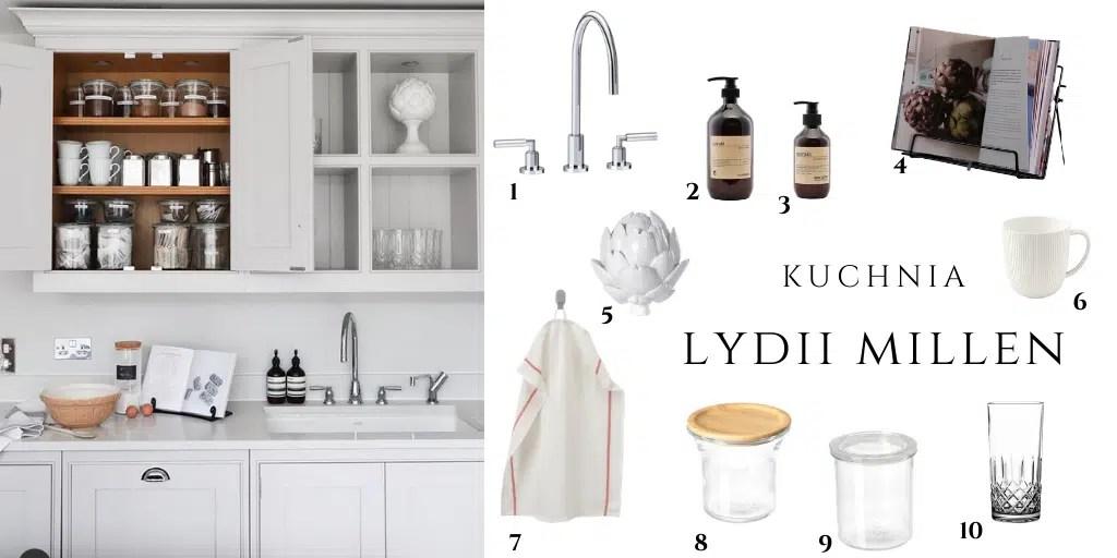 jak urządzona jest kuchnia w domu Lydii Millen