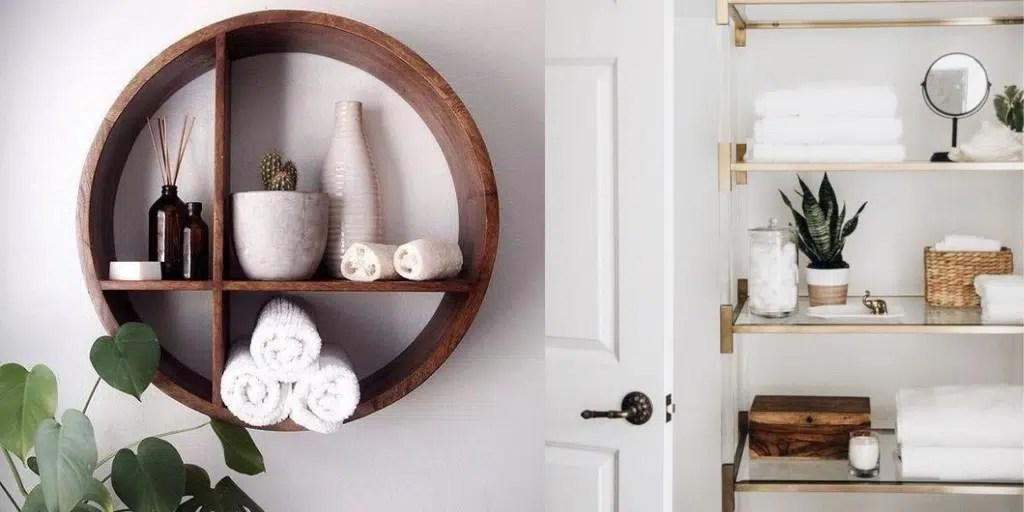 półka do łazienki do przechowywania estetycznie ręczników
