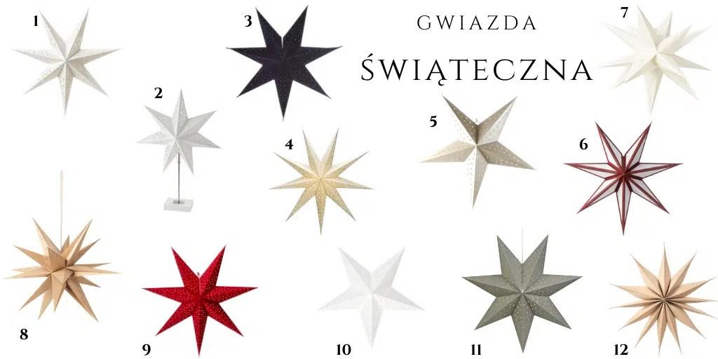 gwiazdy świąteczne świecące dekoracje świąteczne lampa gwiazda