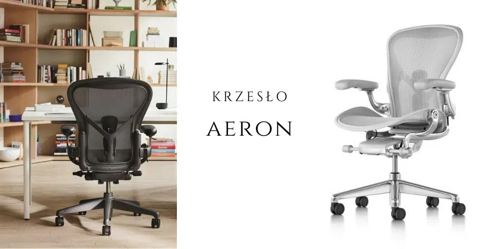 krzesło aeron chair fotel obrotowy najlepszy do biura HermanMiller