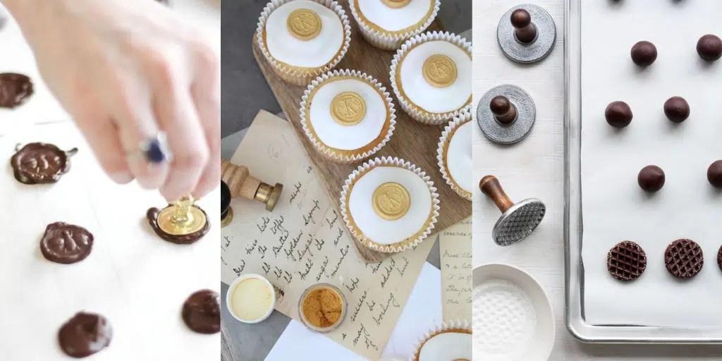 monety z czekolady na ciasteczkach muffinach