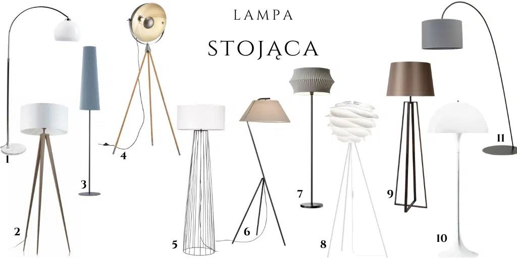 lampa stojąca z tkaninowym kloszem elegancka ponadczasowa gdzie kupić lampy.pl